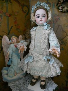 ~~~ Childlike French Larger BeBe Lace Costume with Bonnet ~~~ from whendreamscometrue on Ruby Lane