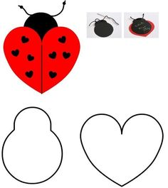 Lady bug cut n paste craft Felt Crafts, Diy And Crafts, Crafts For Kids, Arts And Crafts, Paper Crafts, Ladybug Crafts, Ladybug Party, Felt Patterns, Doily Patterns