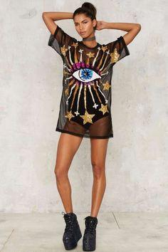 DI$COUNT UNIVER$E Serendipity Mesh Tee - Clothes | Tees | Shut it Down #raveoutfits