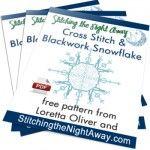 Free Snowflake Cross Stitch and Blackwork Ornament, www.stitchingthenightaway.com