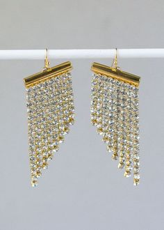 Easy to make Crystal Fringe Earrings! Video Tutorial Available
