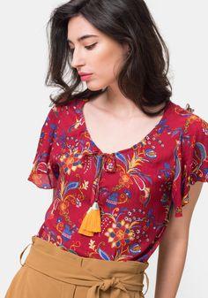 cca7189d51e32 Comprar Blusa estampada TEX. ¡Aprovéchate de nuestros precios y encuentra  las mejores OFERTAS en tu tienda online de Moda!