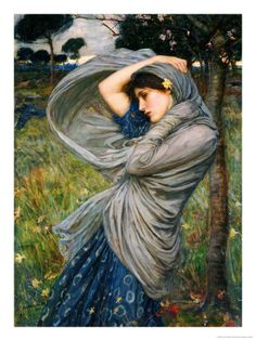 This really looks like a Lord Leighton but it is named Boreas, by John William Waterhouse