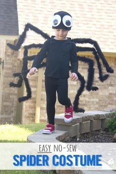 DIY: Easy NO-SEW Spider Costume!!! (…plus, one to GIVE AWAY!)