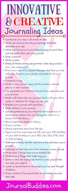 25 Fun, fabulous and innovative journaling ideas for kids