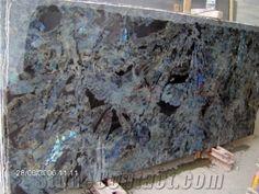Lemurian Blue, Madagascar Blue Granite Slabs & Tiles
