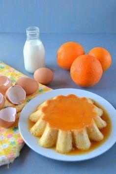 Apunta la receta de este flan sensacional: con pan, almendras, naranja y, además, sin lactosa.