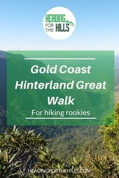 The Gold Coast Hinterland Great Walk is a 54 km hike over 3 days. Check out Janet's adventure. Great looking place you should love to see. Coast Australia, South Australia, Victoria Australia, Australia Travel, Saltwater Crocodile, Hiking Training, Coral Garden, Great Walks, Airlie Beach