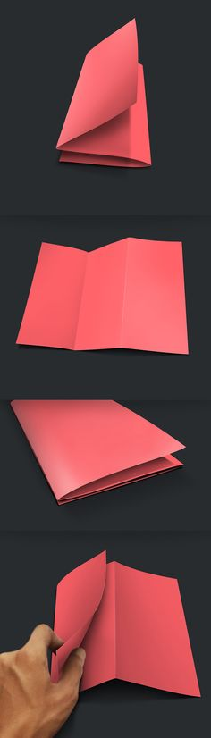 New Free Photoshop PSD Mockups for Designers (27 MockUps) - Free Z Fold Brochure Mockup PSD