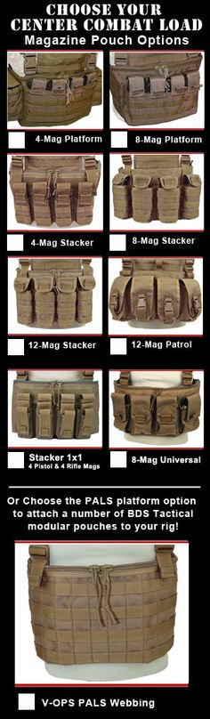 BDS Tactical V-OPS Plate Carrier Chest Rig