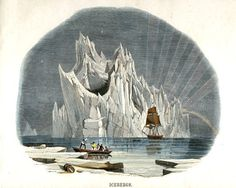 Antique Nature Print Arctic Iceberg Art by missquitecontrary Art And Illustration, Illustrations, Nature Prints, Art Prints, Iceberg, You Draw, Office Art, Vintage Images, Vintage Prints