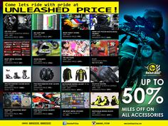 Bandidos PIT STOP celebrating 1st anniversary. Upto 50% off on all bike accessories.