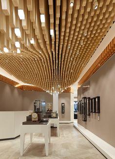 Wood Slat Ceiling Linear Lighting Google Search