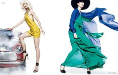 Karlie Kloss and Vika Falileeva Front Neiman Marcus' Art of Fashion Spring 2013 Campaign