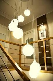 Znalezione obrazy dla zapytania lampy wiszące nad schodami