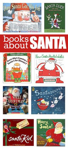 Books About Santa for kids. | No time for flash cards http://www.notimeforflashcards.com/2013/12/books-about-santa.html