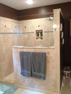 shower ideabrown paint with tile shower remodelbath