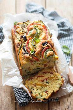 Plumcake salato alle verdure - Ricetta Plumcake di verdure soffice