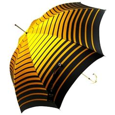 Pasotti Italian Umbrella – Sun Gold & Black Stripe
