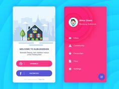 Login and profile app design by Andika Satriatama