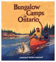 size: Stretched Canvas Print: Bungalow Camps in Ontario Canvas Art : Using advanced technology, we print the image directly onto canvas, stretch it onto support bars, and finish it with hand-painted edges and a protective coating.