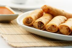 Baked Pork Spring Rolls Recipe for making at home. Pork Spring Rolls, Baked Spring Rolls, Chicken Spring Rolls, Vegetable Egg Rolls, Vegetable Spring Rolls, Crescent Rolls, Empanadas, Cooking Time, Cooking Recipes