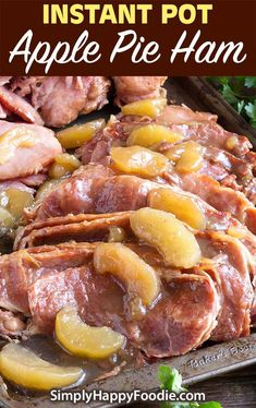 Instant Pot Apple Pie Ham is a deliciously flavored spiral cut ham. With the sweetness of apples and the salty ham, you get a perfect combi. Pressure Cooker Ham, Instant Pot Pressure Cooker, Pressure Cooking, Pork Recipes, Slow Cooker Recipes, Cooking Recipes, Ninja Recipes, Recipies, Best Instant Pot Recipe