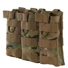 Tactical MOLLE Triple Open-Top Magazine Pouch FAST AK AR M4 FAMAS Mag Pouch Airsoft Military Paintball Equipment Outdoor
