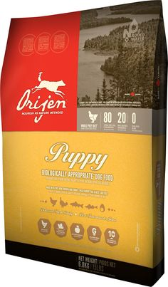 Orijen Puppy Grain-Free Dry Dog Food- supposed to be the best. Not cheap, but they say your dog eats so much less that it makes up the difference.