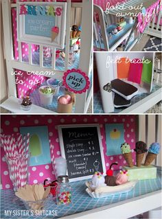 transform a changing table into an adorable ice cream parlor! tutorial full of pictures and ideas
