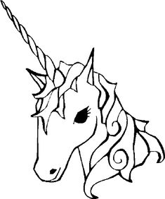 easy coloring pages of unicorns to print | Unicorn Coloring Pages For Kids. Print and Color the Pictures