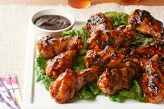 Asian Honey BBQ Chicken Drummettes recipe