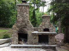 Outdoor Fireplace And Pizza Oven Combo Home Romantic