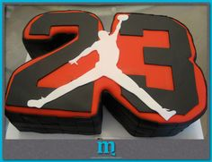 grooms cake since Steve is thinking abt wearing his J's. Michael Jordan Cake, Michael Jordan Birthday, Beautiful Cakes, Amazing Cakes, 23rd Birthday, Birthday Cakes, Birthday Ideas, Birthday Stuff, Jordan Baby Shower