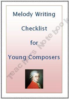 MUSIC: Melody Writing Checklist