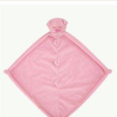 Monogrammed Pig Lovie / Angel Dear / Personalized Blankie / Security Blanket / Baby Blankie Gift / Animal Blankie by 2chichicks on Etsy