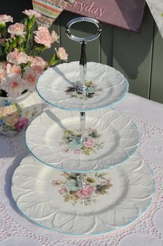 Coalport Countryware 3 tier  stand...could make this with thrift store dishes.