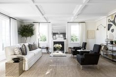 This graphic transitional living room by Alyssa Kapito gets recreated for less by copycatchic luxe living for less budget home decor and design daily finds and room redos
