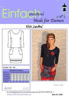"""Kleider & Schürzen - Schnittmuster Ballonkleid """"Carolina"""" - ein Designerstück von einfach-anziehend bei DaWanda"""