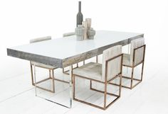 Cody Dining Table in Grey Recycled Wood | ModShop