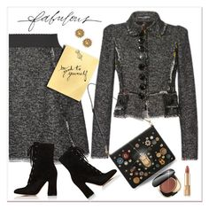 """""""Tweed Mini"""" by jacque-reid ❤ liked on Polyvore featuring Dolce&Gabbana, Gianvito Rossi, Stella & Dot, dolcegabbana and GianvitoRossi"""