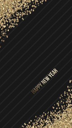 black, gold, glitter, wallpaper, background, iphone, android, HD, 2017, happy new year