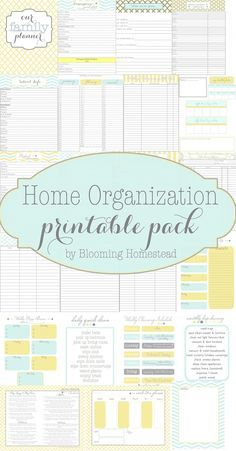 Home Organizational Printables