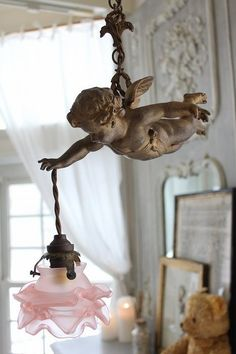 """Hanging of France Antique Angel Lamp"" Koh Kong, Fuat Coconfouato [antique lighting and antique furniture] United Kingdom Antique France Antique French antique antique chandeliers, antique furniture, antique lighting, antique goods, Jewellery, Interior"