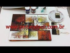 Pintar é fácil - Pintura em Tela - Abstratos - Iniciantes- AULA 1