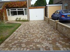 before - block paving