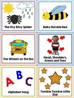 Preschool Song Cards by Listening Fun Preschool Music, Free Preschool, Preschool Classroom, Preschool Learning, Toddler Preschool, Preschool Activities, Therapy Activities, Classroom Ideas, Kindergarten Inquiry