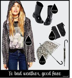 Rainy days www.dailymode.net Met 4 seizoenen op 1 dag ben je met deze #outfit weatherproof.