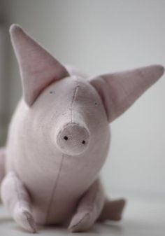 The pink piggy. $30.00, via Etsy.
