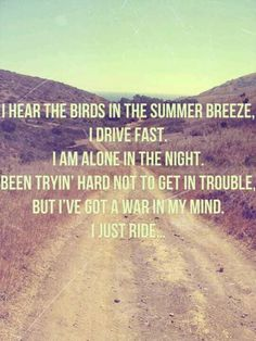 "Some lyrics from ""Ride"" by Lana Del Rey"